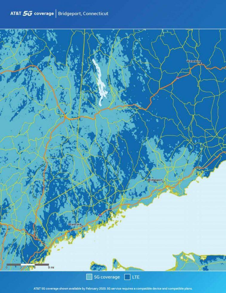 ATT Bridgeport 5G Map