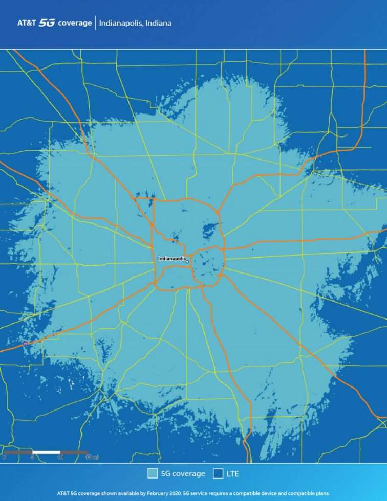 ATT Indianapolis 5G Map