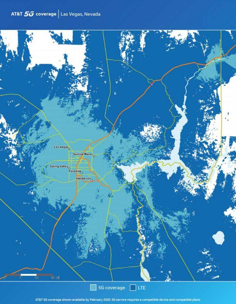 ATT Las Vegas 5G Map