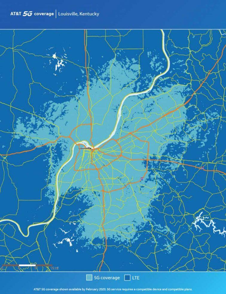 ATT Louisville 5G Map