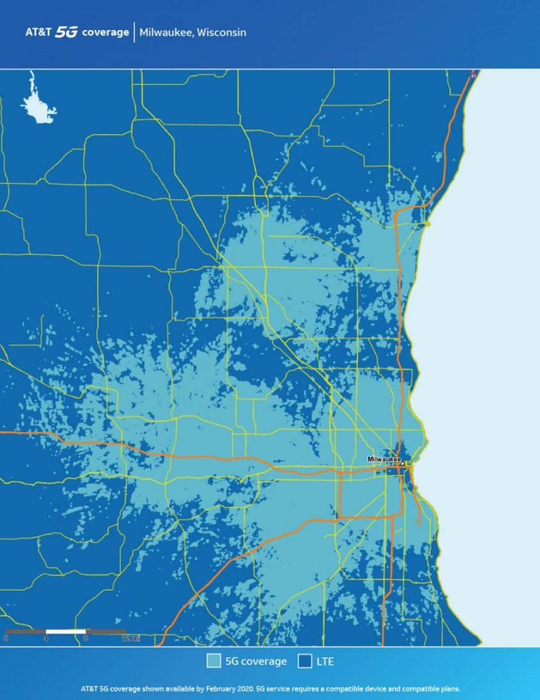 ATT Milwaukee 5G Map
