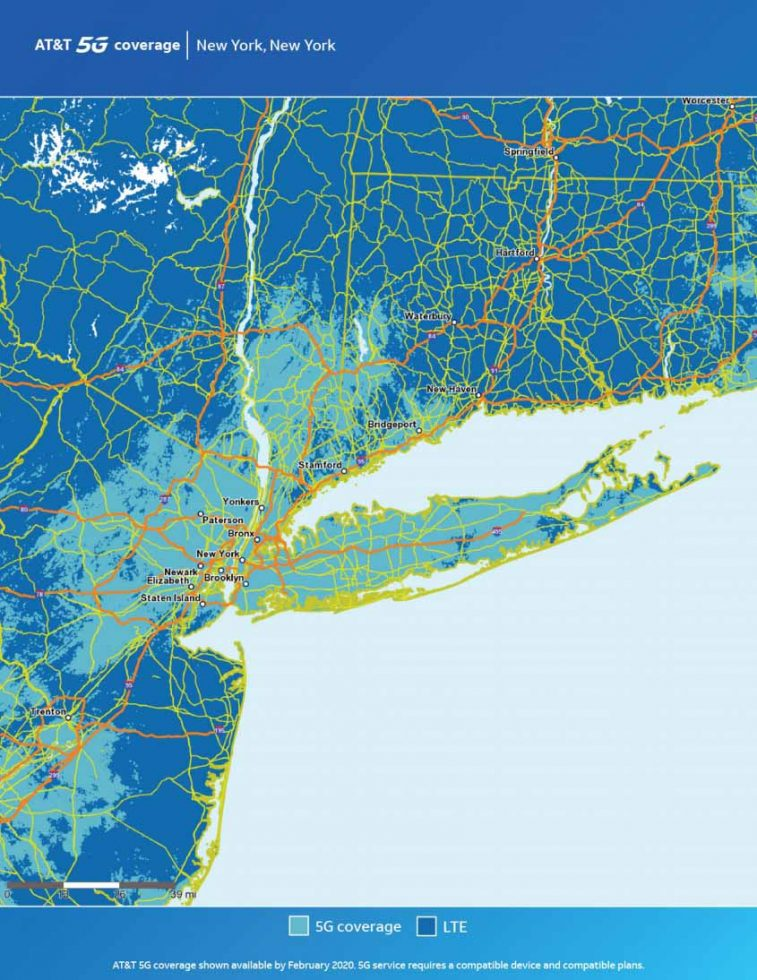 ATT New York 5G Map