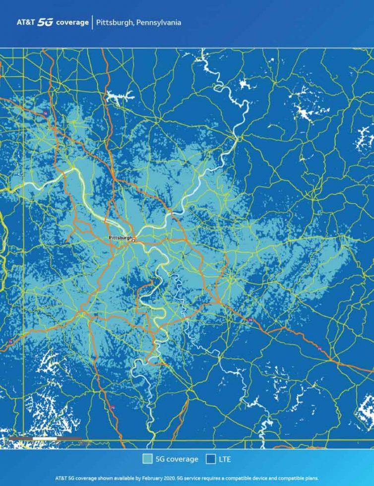 ATT Pittsburg 5G Map
