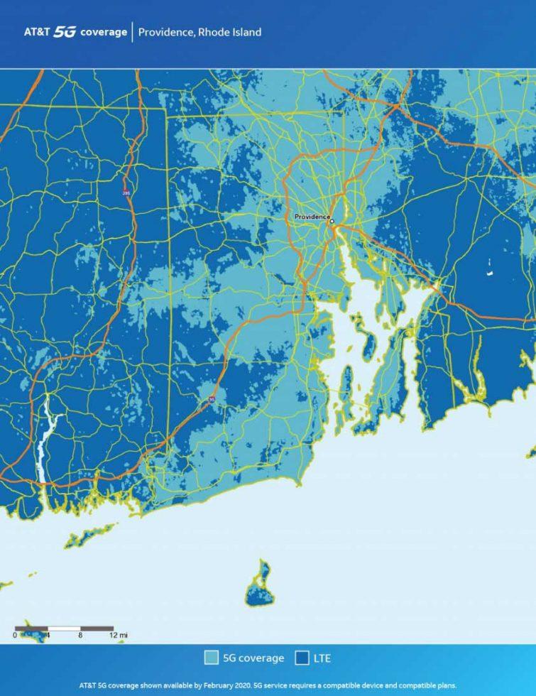 ATT Providence 5G Map