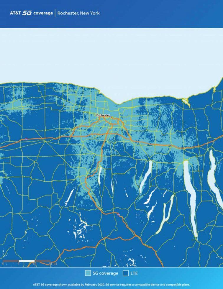 ATT Rochester 5G Map