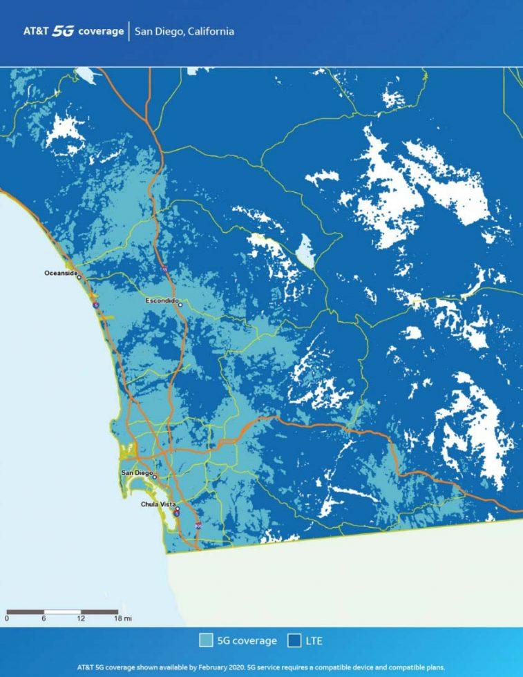 ATT San Diego 5G Map