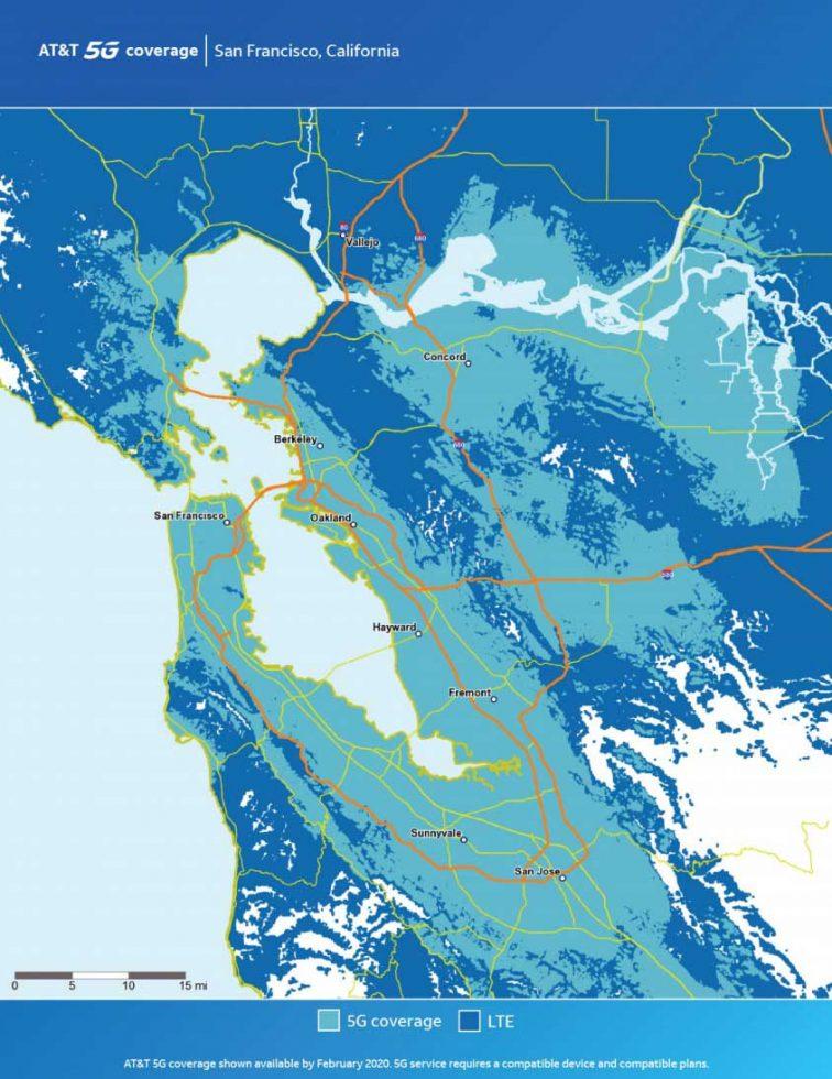 ATT San Francisco 5G Map