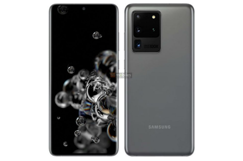 Galaxy S20 Ultra Renders Detail Massive Camera Housing, 100X 'Space Zoom'