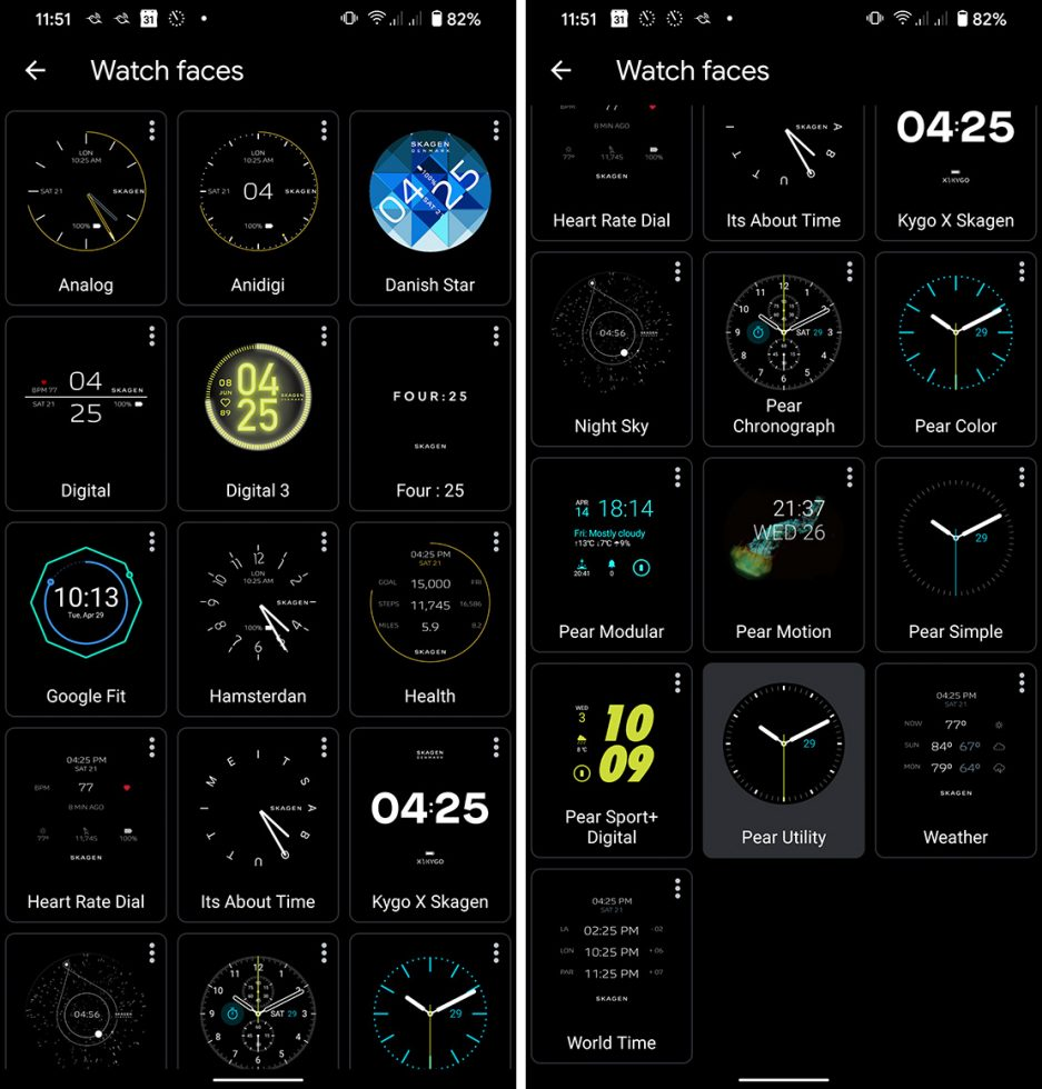 Falster 3 Watchfaces