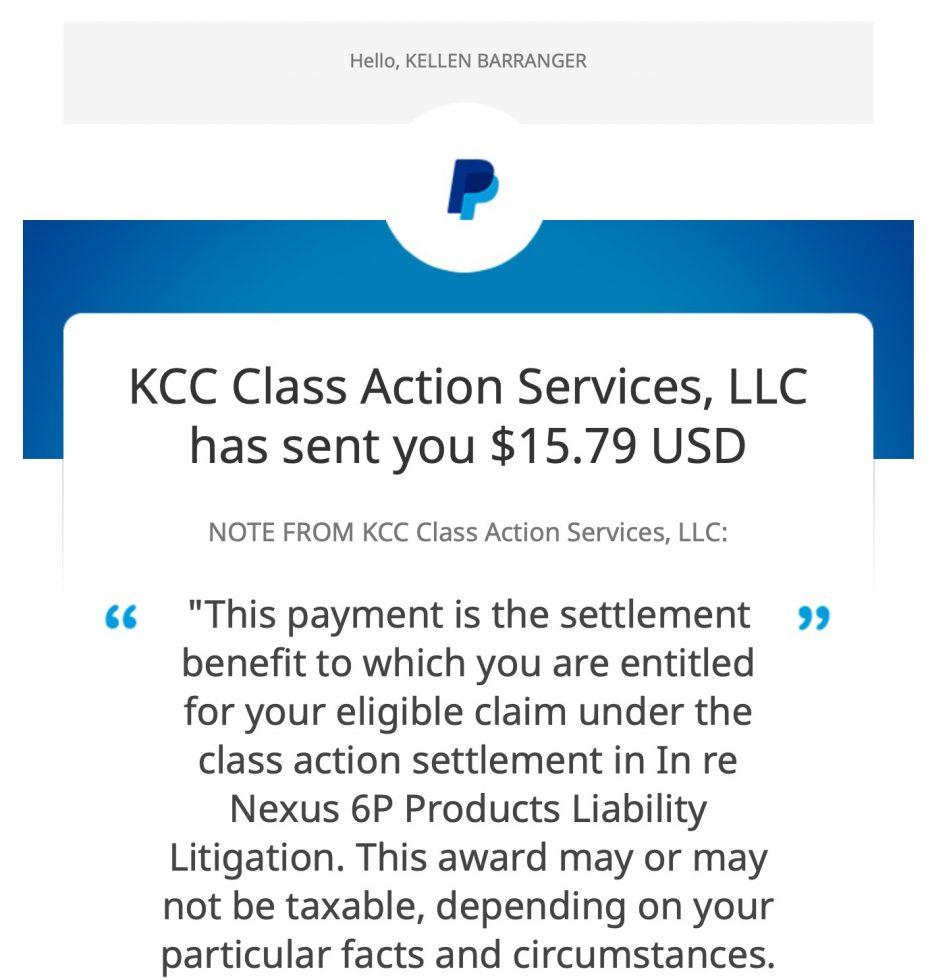 Nexus 6P Settlement