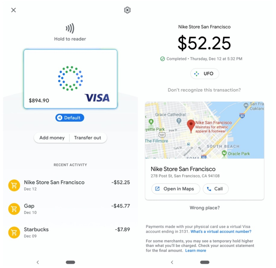 Google Pay Card App