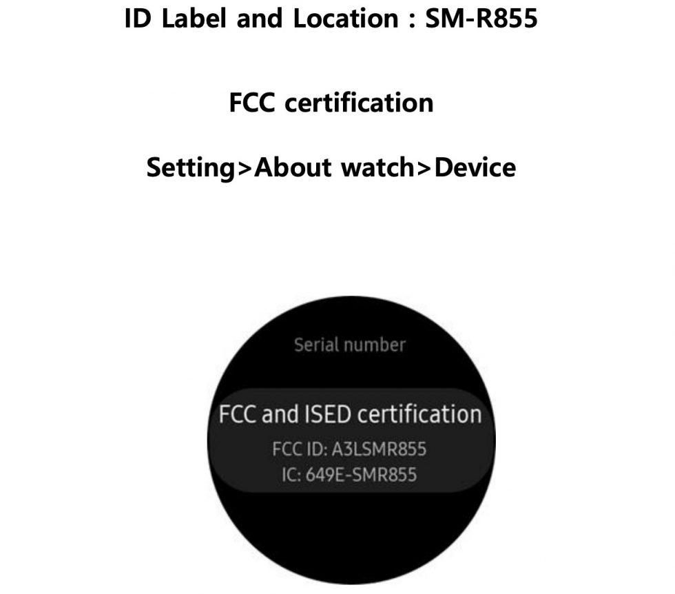 Samsung New Galaxy Watch FCC