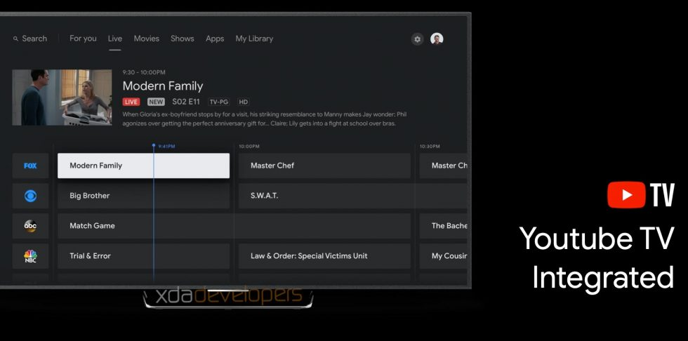 Upcoming Android TV UI Update Integrates YouTube TV Channel Guide