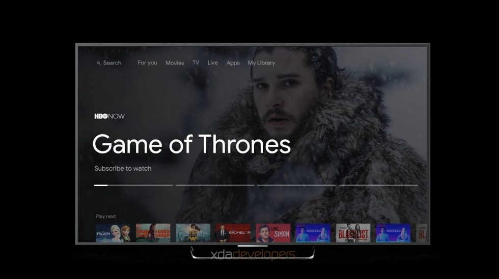 New Android TV UI