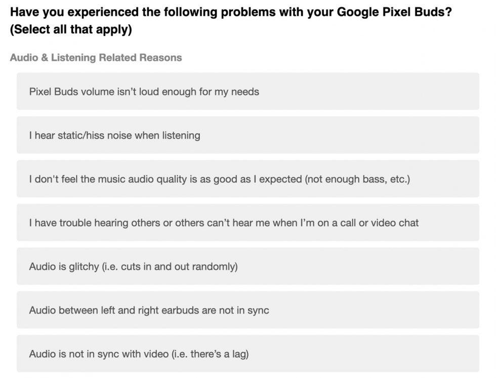 Pixel Buds Bug List