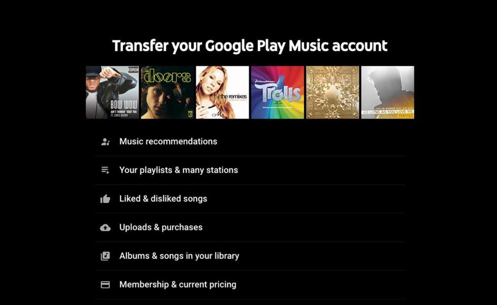 Transfer Google Music Account
