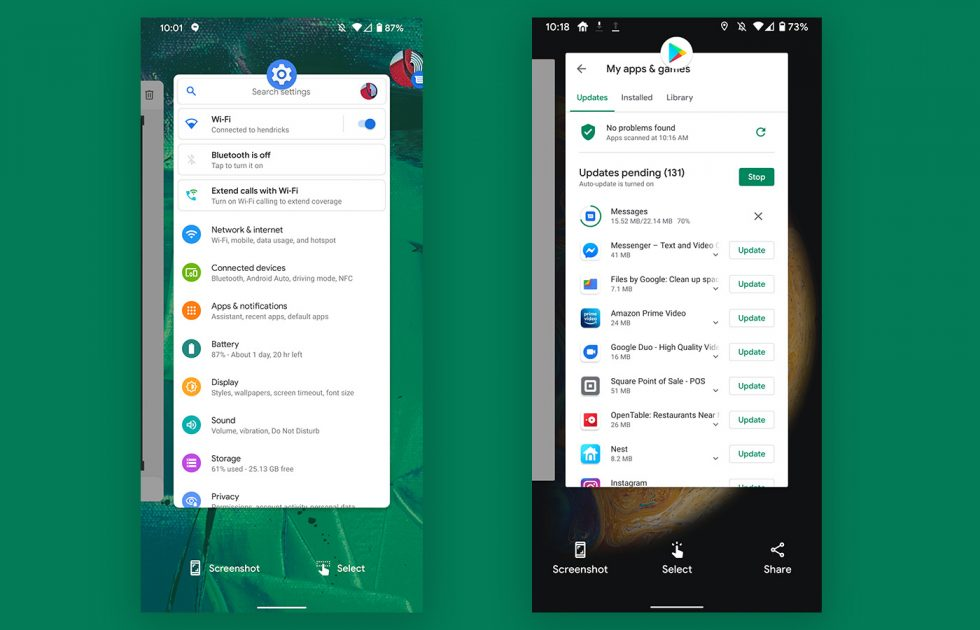 Android 11 App Switcher