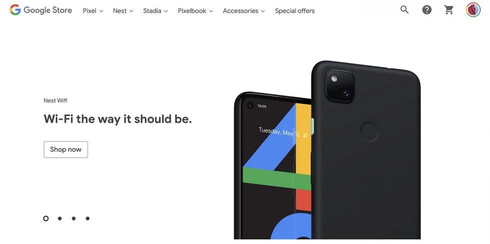 Pixel 4a, Google Store
