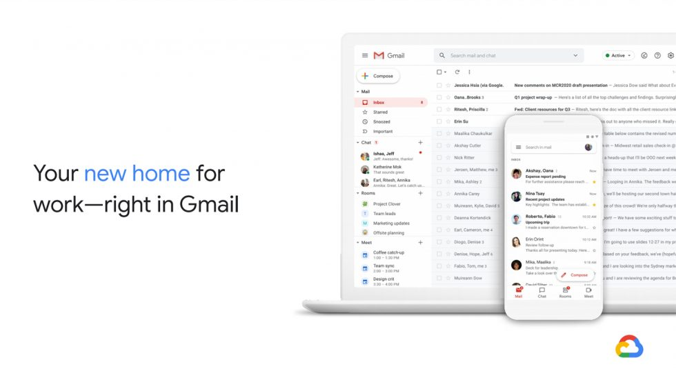 New Gmail for Gsuite Home