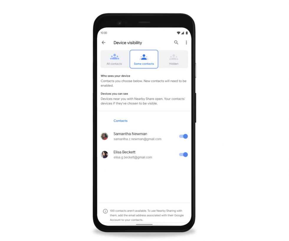 Android Nearby Share Settings