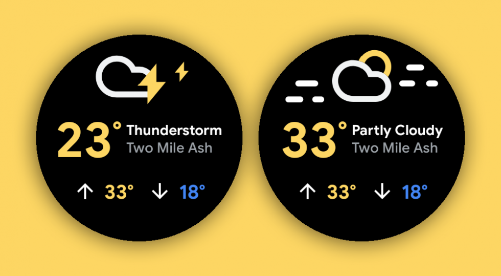 New Wear OS Weather