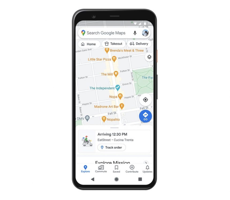 Google Maps Delivery