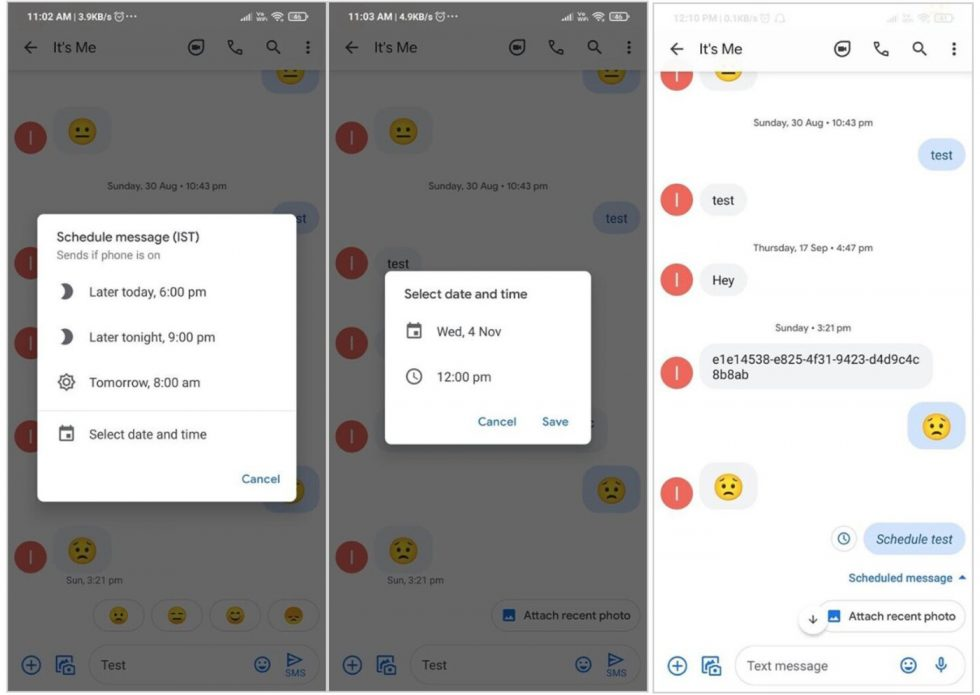 Google Messages Scheduling
