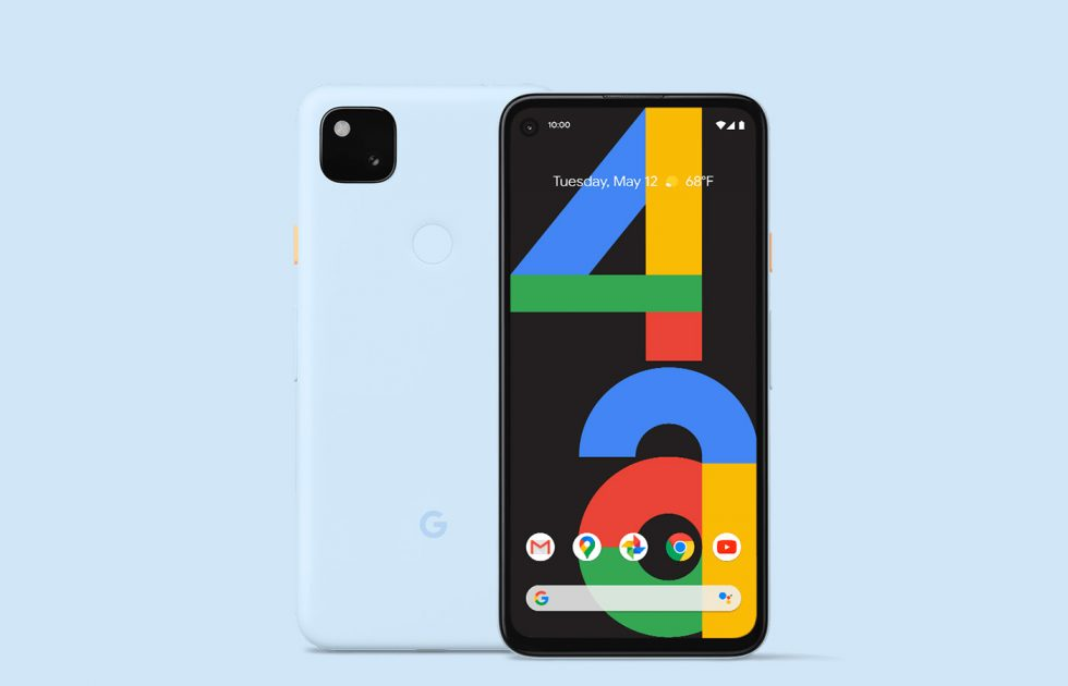 Google Pixel 4a Barely Blue