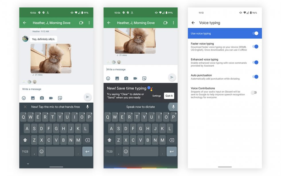 Gboard Enhanced Voice Typing