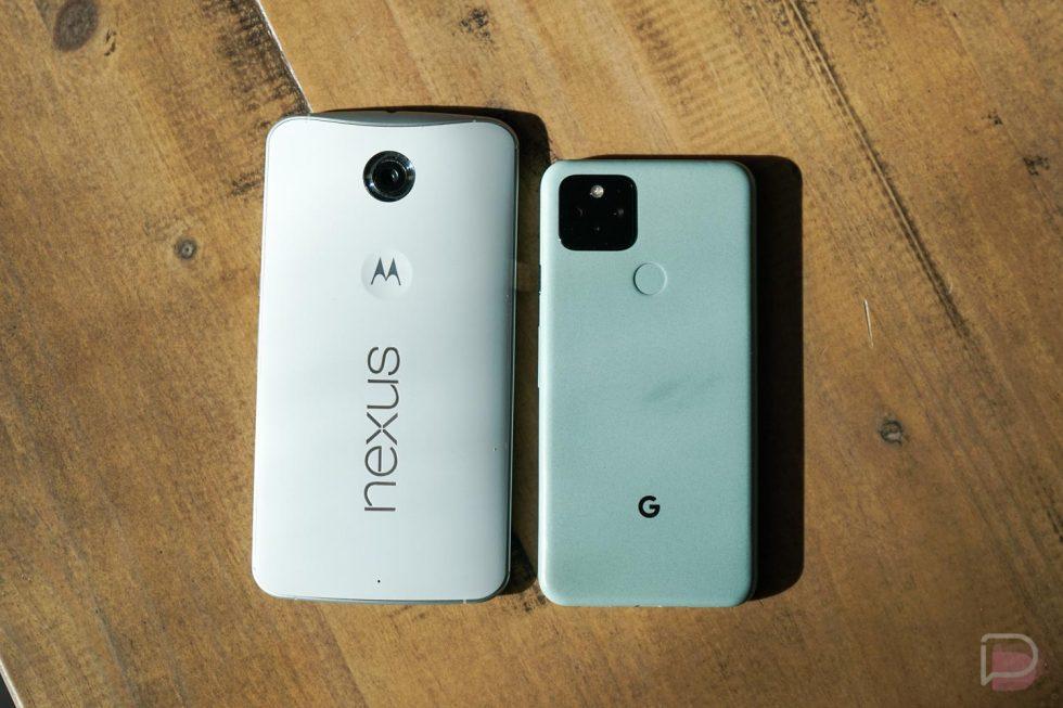 Nexus 6 vs. Pixel 5