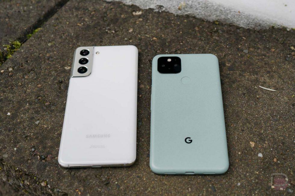 Pixel 5 vs Galaxy S21