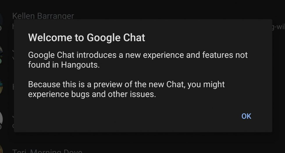 Google Chat Preview