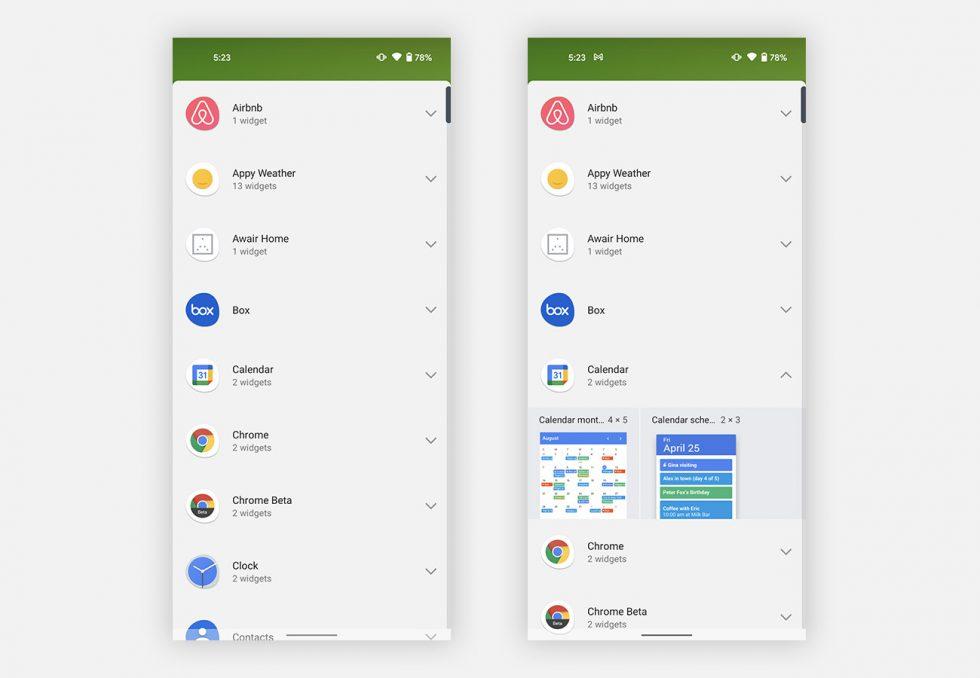 Widget Picker Android 12