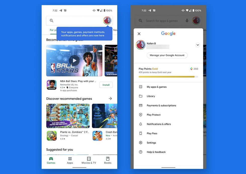 Google Play Hamburger