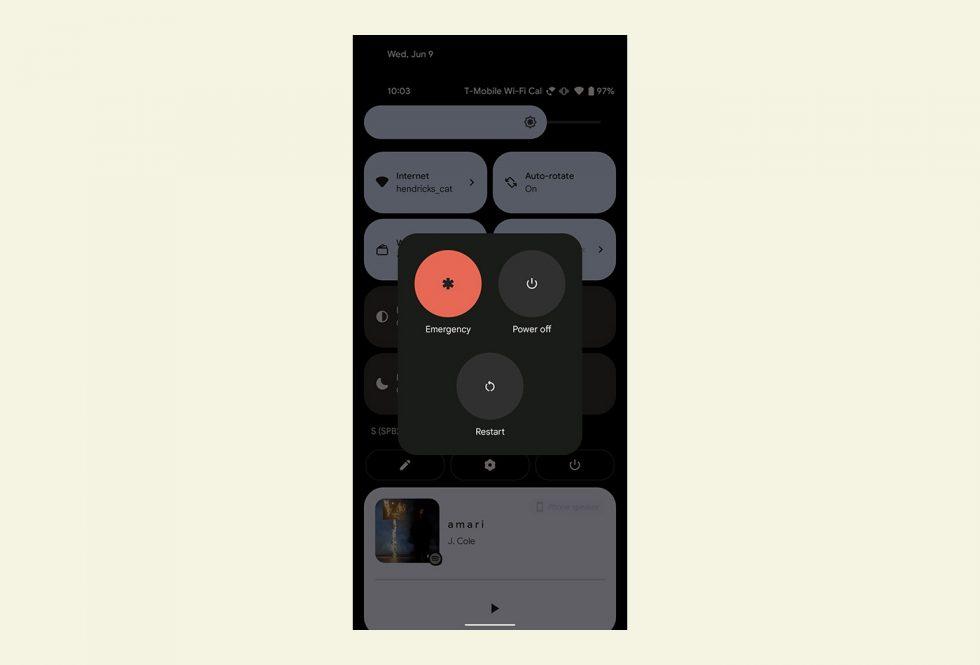 Android 12 Power Menu