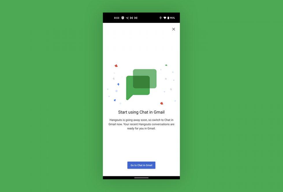 Conversation Gmail Hangouts