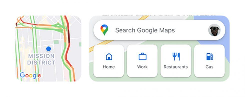 Google Maps iOS Widgets