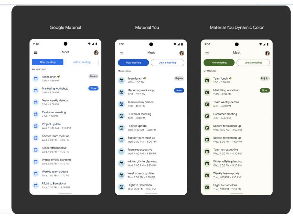 Google Meet Material You