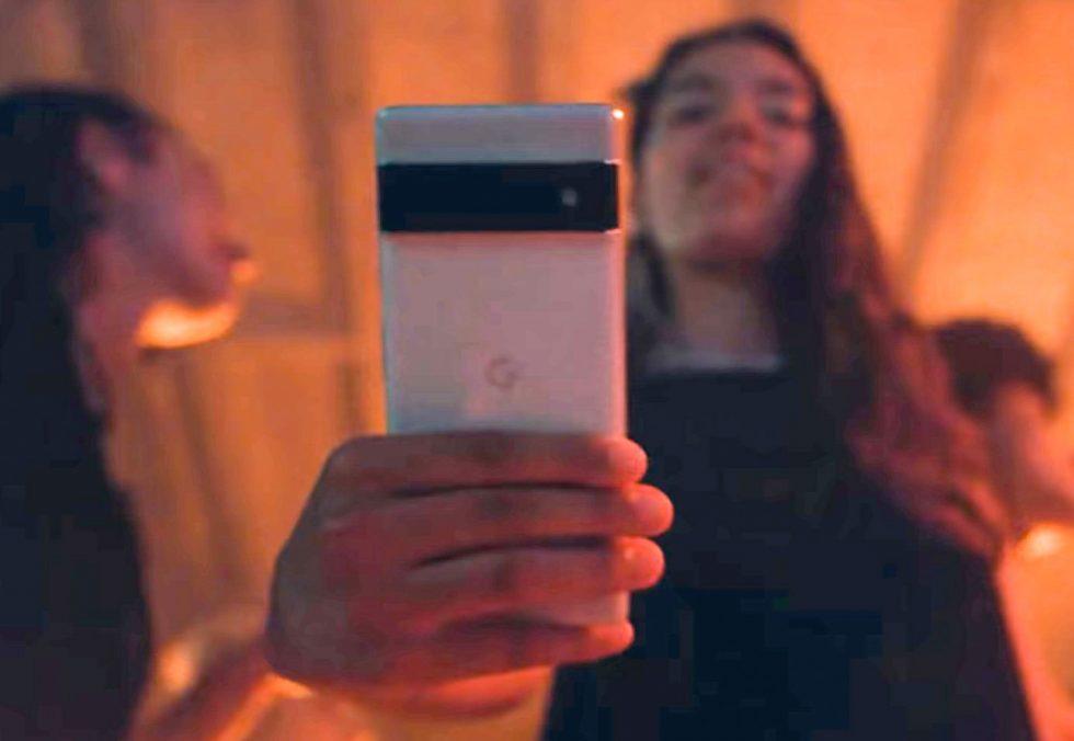 Google Pixel 6 in hand