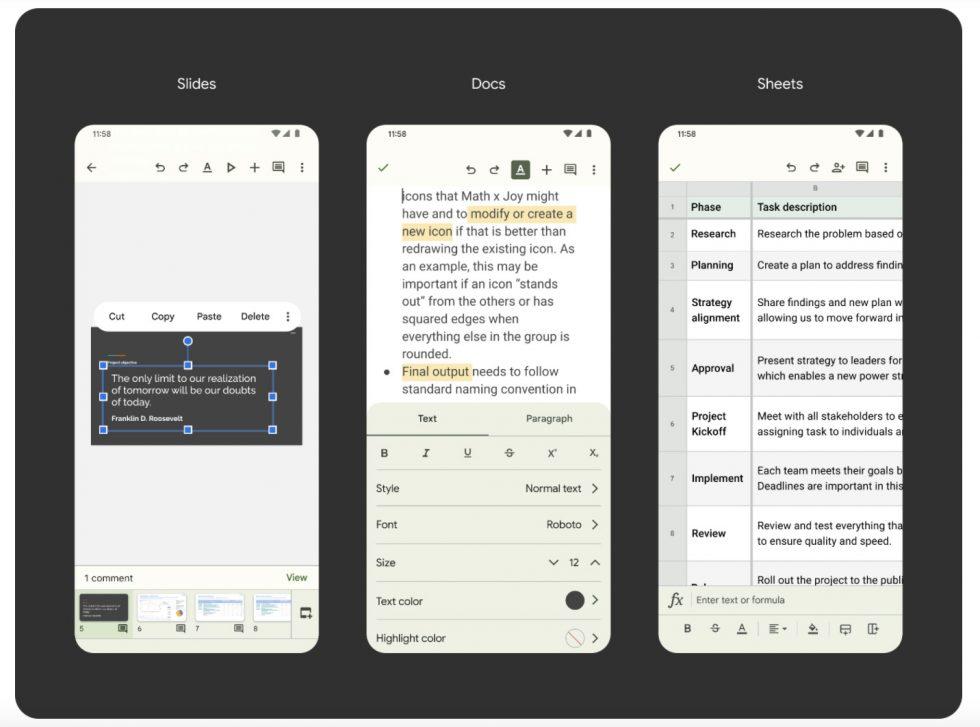 Google Slides Docs Material You