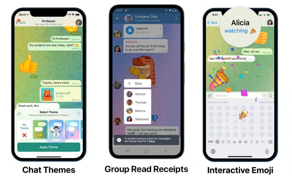 Gran actualización de Telegram